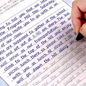 Image 1 - 3pcs 성인 어린이를위한 영어 서예 카피 북 쓰기 서예 연습 도서 어린이를위한 libros 카피 북