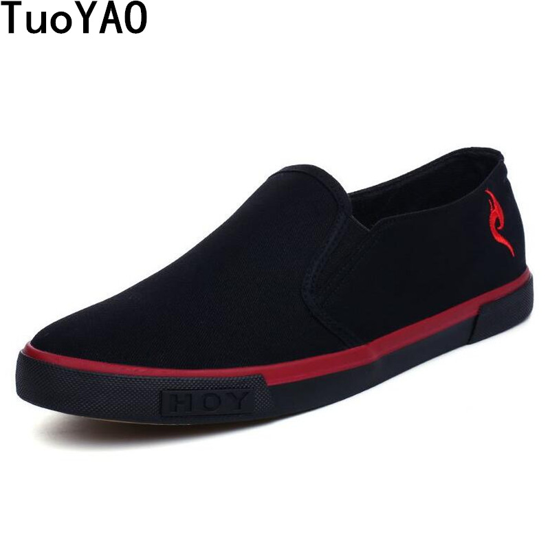 Classic Style New Brand Men Canvas Breathable Shoes Spring And Autumn Slip On Sneaker Shoes Fashion Vulcanized Shoes
