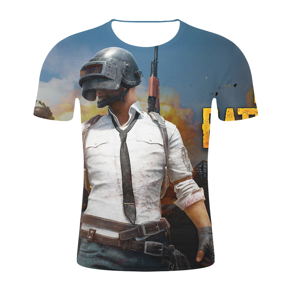Pubg 3d T Shirt Costumes Men/women Aikooki Fashion Playerunknown's Battlegrounds Men's T Shirt Pubg 3d Print Plus Size Clothe To Make One Feel At Ease And Energetic