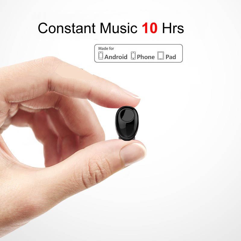 NVAHVA 10 Hrs Music Time Bluetooth Earbud Wireless Earphone Mini Headset For IPhone Xiao Mi Android Cellphones TV PC Car Driving