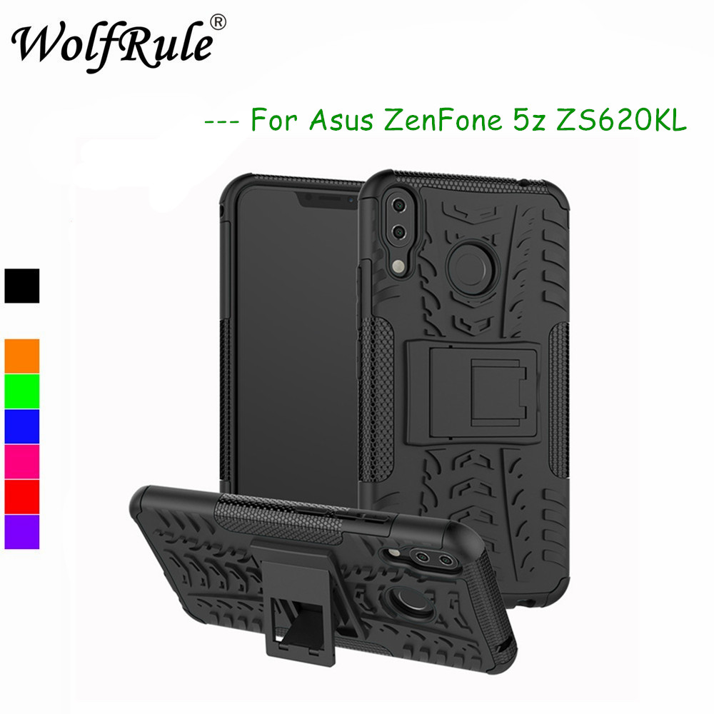 WolfRule Asus Zenfone 5z ZS620KL Cases Cover Dual Layer Armor Back Case For Asus Zenfone 5z ZS620KL Case Silicone Asus 5 ZE620KL