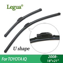 1 set Wiper blades for Toyota IQ (2008-), 18+21,car wiper,Boneless, windscreen, Car accessory