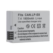 Batterie au Lithium-Ion Rechargeable en plastique de LP-E8 pour Canon EOS 550D 600D 650D 700D batterie de caméra au Lithium-Ion Rechargeable(China)