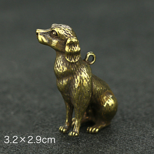 Charm Dog Pendant Necklace Statue Crafts Ornament Figurine Hanging Accessories Vintage Brass Decoration dog decors