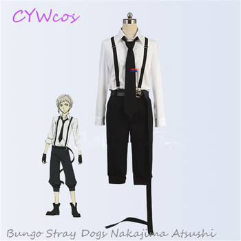 Bungo Stray Dogs Cosplay Nakajima Atsushi Armed Detective Agency Cosplay Costume Stray Dogs Suits Halloween Uniforms Costumes