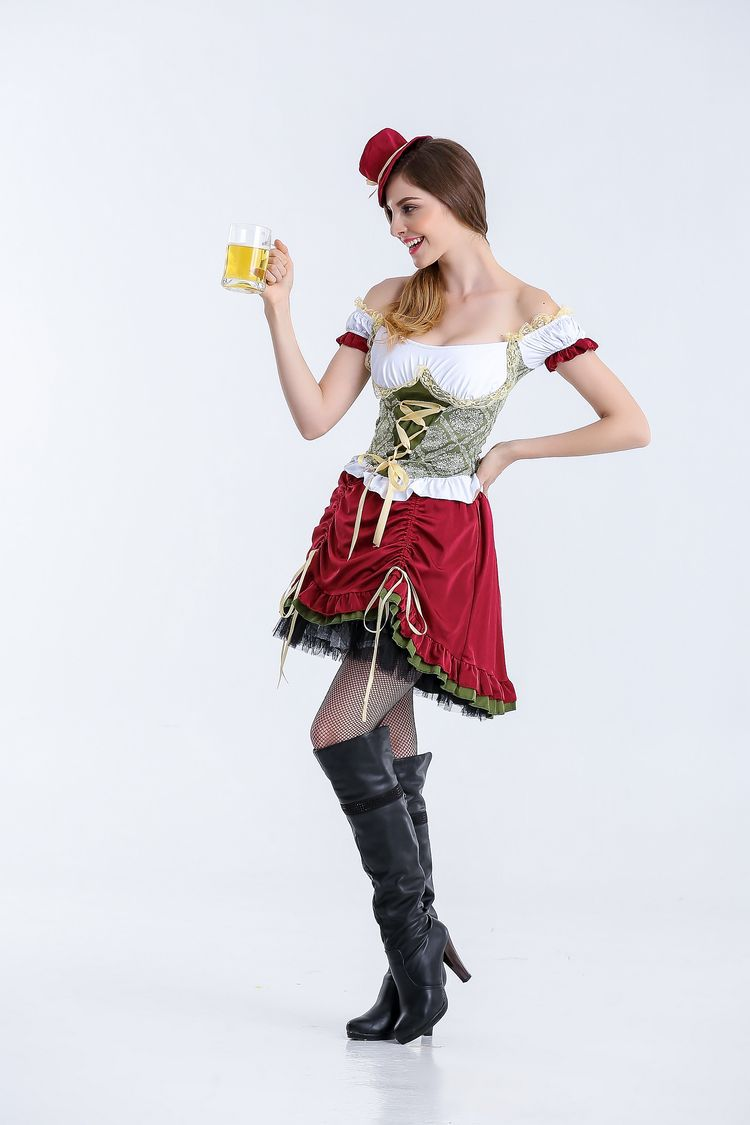 S XL High Quality German Beer Maid Peasant Maiden Costume Oktoberfest Beer Girl Dirndl Uniforms Halloween Cosplay Fancy Dress -in Holidays Costumes from ...  sc 1 st  AliExpress.com & S XL High Quality German Beer Maid Peasant Maiden Costume ...