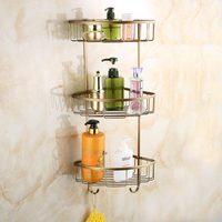 Медный европейский античный ретро трехслойный Штатив для ванной комнаты аппаратный кулон набор стандартная ванная стойка lo817334