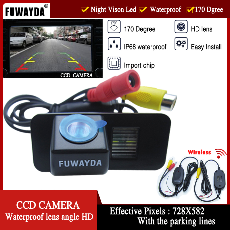 FUWAYDA WIFI CCD Chip Car Rear View Reverse Mirror Image With Guide Line CAMERA For FORD MONDEO/FIESTA/FOCUS/S-Max/CHIA-X/KUGA