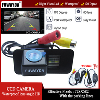 FUWAYDA WIFI CCD Chip Car Rear View Reverse Mirror Image With Guide Line CAMERA for FORD MONDEO/FIESTA/FOCUS/S Max/CHIA X/KUGA