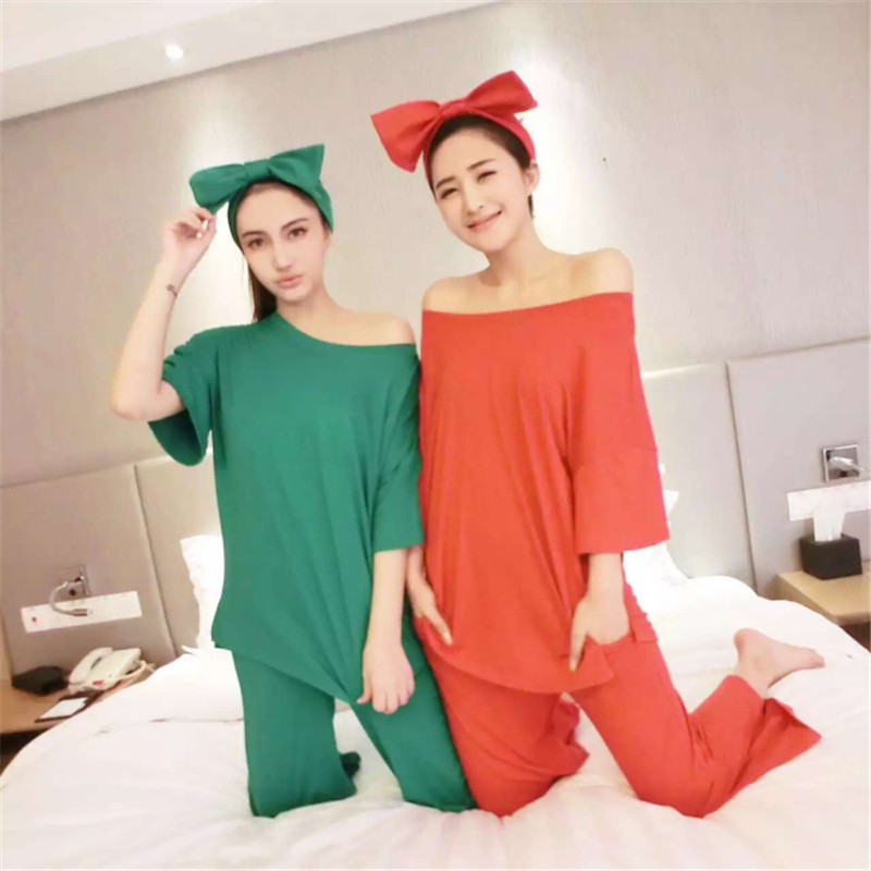 Brand Spring Autumn Long Sleeved Cotton Women's   Pajamas     Set   Cartoon Sleepwear Girls Pyjamas Mujer Lady Casual Home Clothing