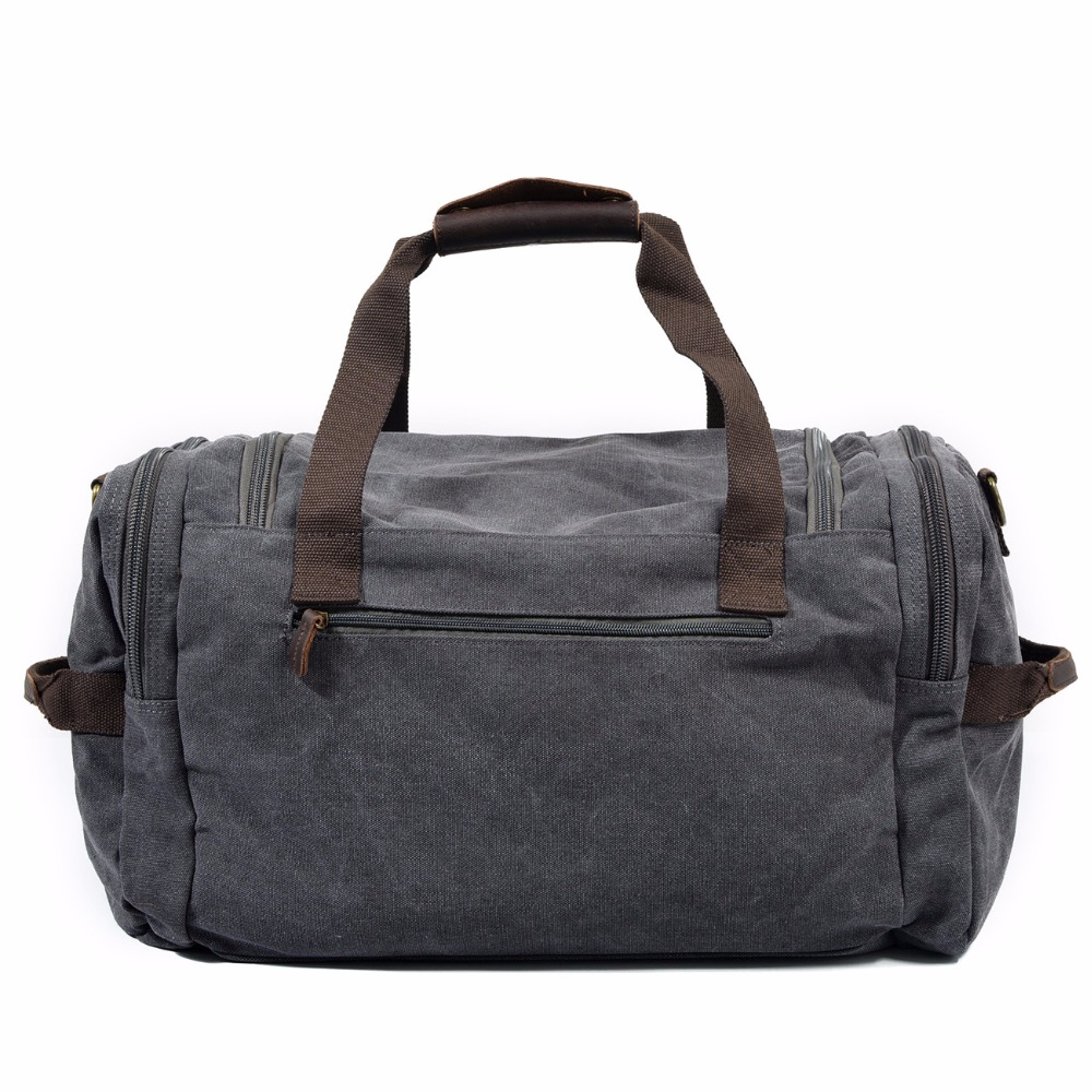 Canvas Leather Travel Bag Carry on Luggage Bags Men Military Duffel Bags Travel Tote Large Weekend Bag bolsa de viagem masculina