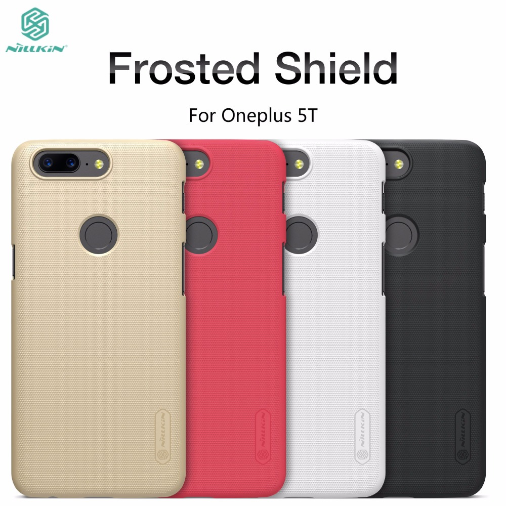Oneplus 5t case cover One plus 5t cover NILLKIN Frosted Shield oneplus 5t Phone cases Hard Plastic Back Cover + Screen protector