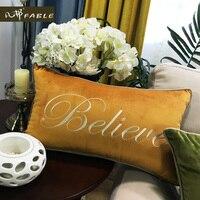 FABLE New Home Decorative Beach pillow case Belive Pillowcase Boster Non core Case Around European top grade Free shipping