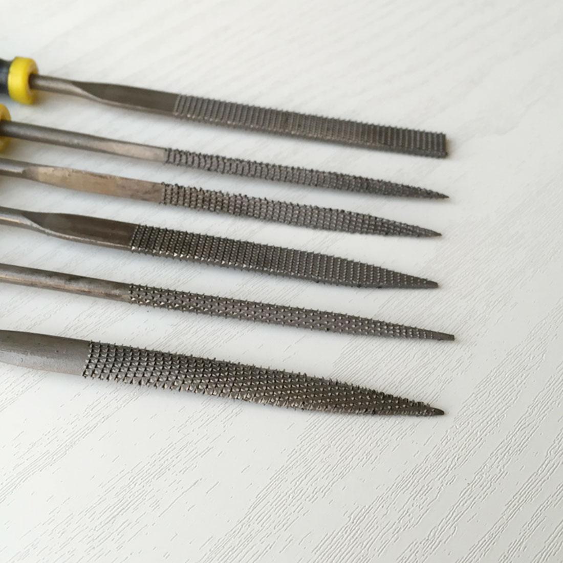 6Pcs Metal File Mini Assorted Rasp Diamond Needle File Repair Tool Set QK
