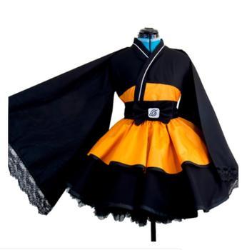 Anime NARUTO Cosplay Uzumaki Naruto Cos Halloween Party Cos Male/Female Lolita Kimono Style Dress Costume