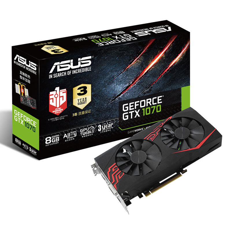 ASUS GTX1070-O8G-GAMING GTX1070 Ice Knight Game Graphics