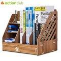 Actionclub  Офисная настольная коробка для хранения  файл  информация  книги для данных  журнал  документы  органайзер  деревянный ящик  книжная п...