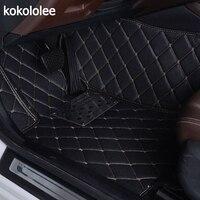 KOKOLOLEE Custom Car Floor Mats For Ford Focus 2 3 kuga ecosport explorer mondeo fiesta mustang car styling Auto Interior mats