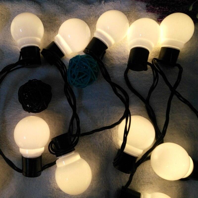 20 piezas Bola de Navidad Cadena de LED Cadenas de luz nocturna - Luces nocturnas - foto 2