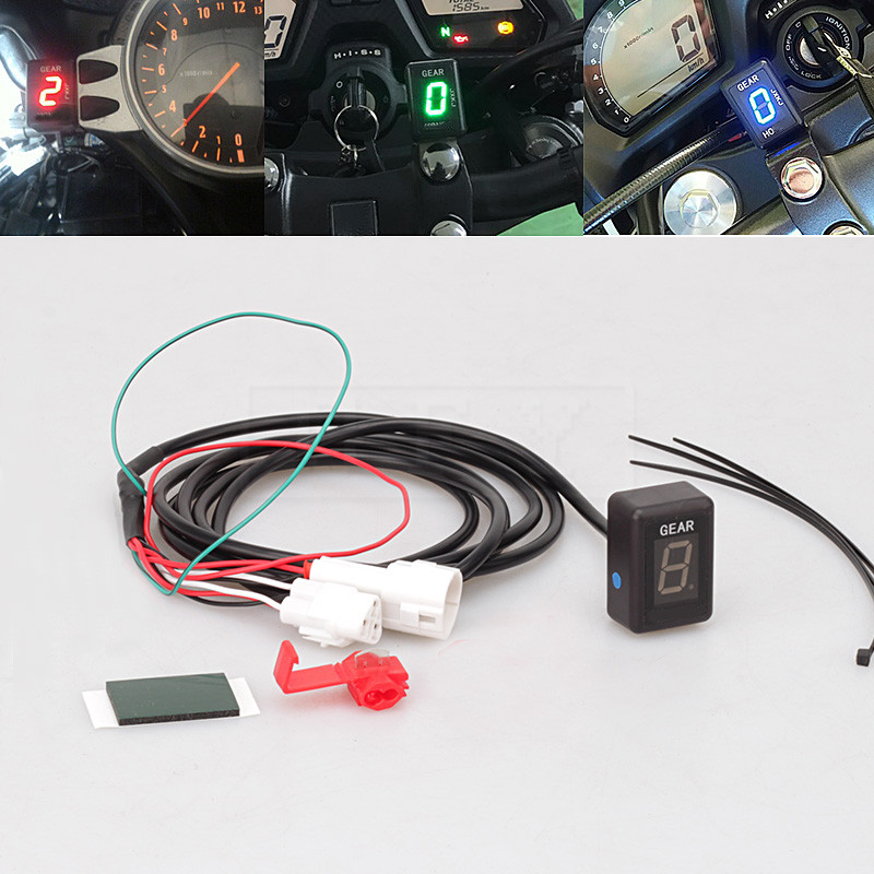 motorcycle lcd electronics 1 6 level gear indicator. Black Bedroom Furniture Sets. Home Design Ideas