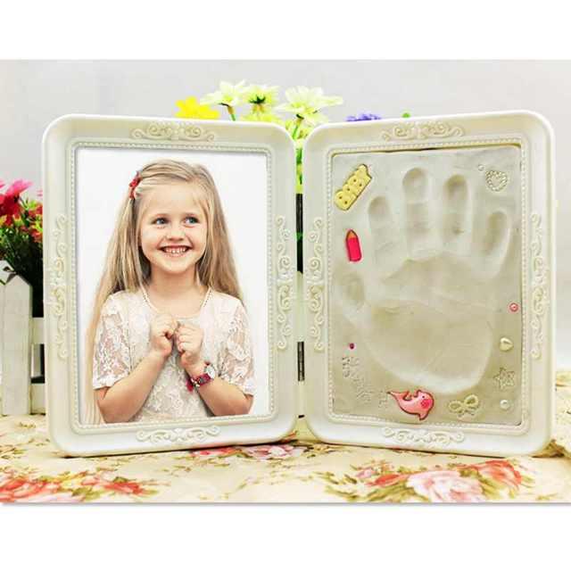 Liplasting 1PC 7 Inch Creative Newborn Baby Handprint Footprint Cast ...