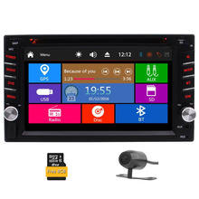 Car Rear View Camera + Double Din 6.2″ In Dash Stereo Car Receiver Audio Video Player Bluetooth FM/AM/RDS Radio DVD/TF/Subwoofer