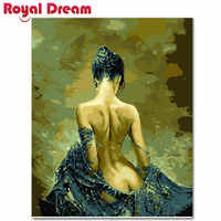 Naked girl Abstract Painting Diy Digital Painting By Numbers Modern Wall Art Picture For Home Wall Artwork