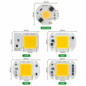 LED COB رقاقة 10 W 20 W 30 W 50 W 220 V الذكية IC لا حاجة سائق 3 W 5 W 7 W 9 W LED لمبة مصباح ل كشاف ضوء أضواء Diy الإضاءة