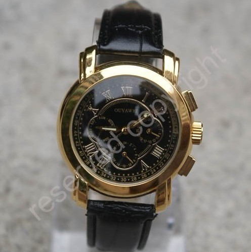 Free shipping fashion luxury watches Fashion men mechanical Timepiece Automatic Mechanical watches self wind with calender