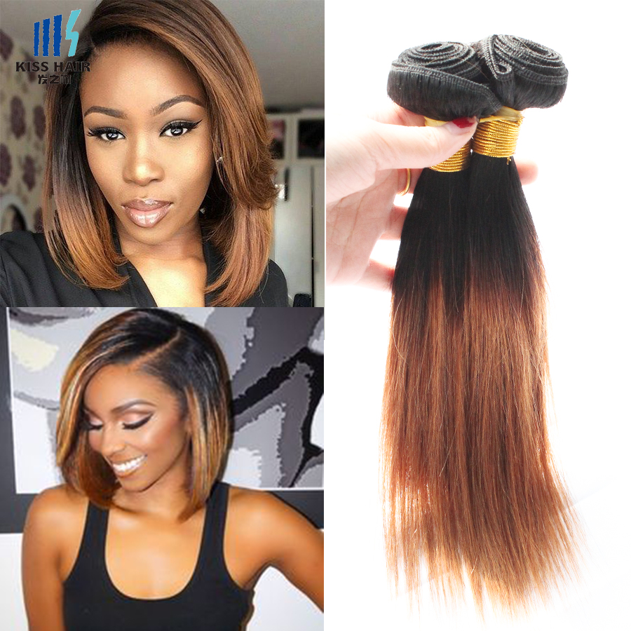 4pcs 10inch colored brazilian hair straight 50gpc t1b 30