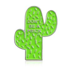 Lovely Badge Plant Potted Collar Enamel Brooch Cactus Leaves Decorative Clothing Cartoon Pins Jewelry
