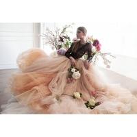 Bohemian Dài Train Bridal Wedding Váy Kịch Đu Lớn Mềm Tulle Dài Váy 2018 Haute Couture Elegant Prom Đảng Gowns
