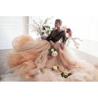 Bohemian Long Train Bridal Wedding Skirt Dramatic Big Swing Soft Tulle Long Skirt 2018 Haute Couture Elegant Prom Party Gowns