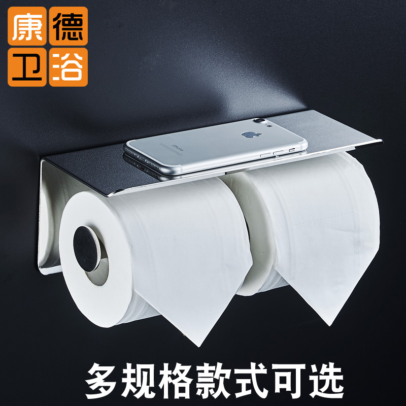 Wall Mounted Toilet Paper Holder with Shelf Stainless Steel Toilet Roll Paper Holder Tissue Holder Bathroom Accessories Sj03 1pcs wall mounted stainless steel bathroom towel shelf holder adhesive force bathroom shelf pendant toilet roll paper hanging
