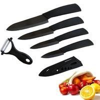 Zirconia Ceramic Knives Set Kitchen Knives Cook Set Cook Ceramic Black Blade Paring Fruit Vege Chef