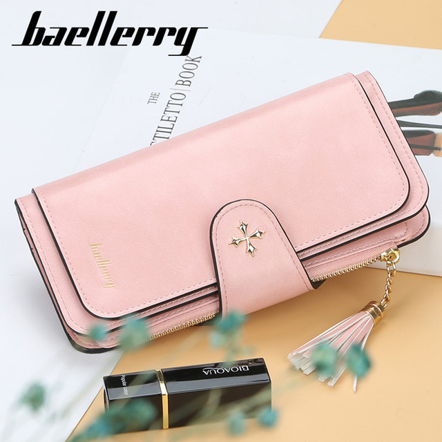 2019 Fashion Long Women Wallets Sequined Top Quality PU Leather Card Holder Female Purse Tassel Zipper Brand Wallet For Girl