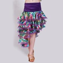 Customized Lady Latin Dancing Skirt Modern Dance Costume Samba Cha-cha Rumba Dancing Promotion B-2745