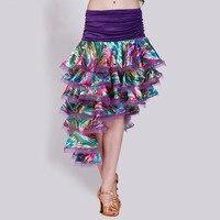 Lady Customized Dancing Skirt Modern Dance Costume Samba Cha cha Rumba Dancing Skirt Plus Size B 2745