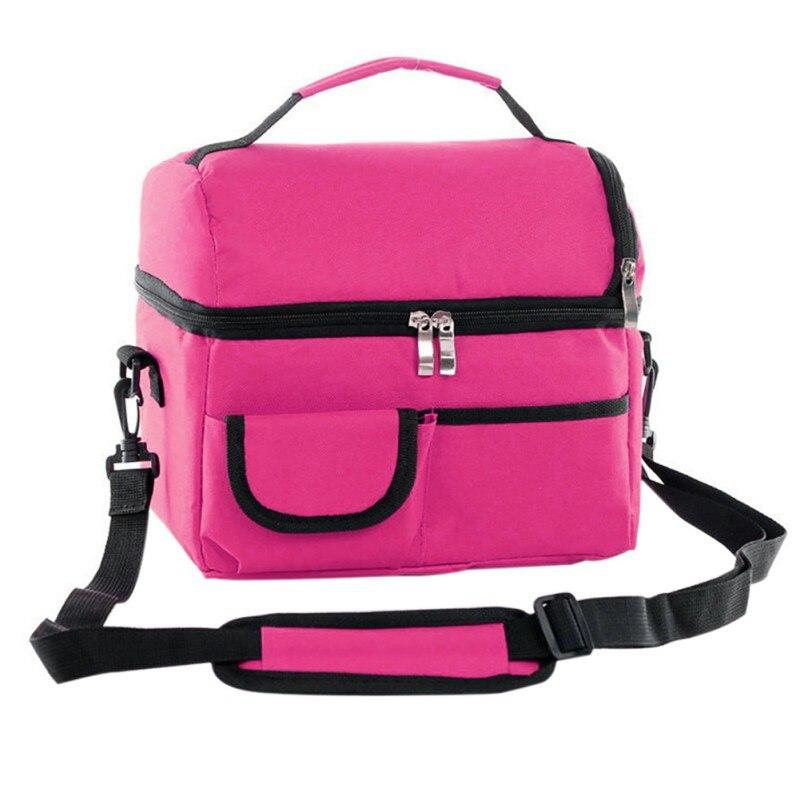 Portable Insulation Cooler Bag Multifunction lunch Pack Thermal Food Picnic Breast Milk Storage Bag Mummy Pack Shoulder Bag