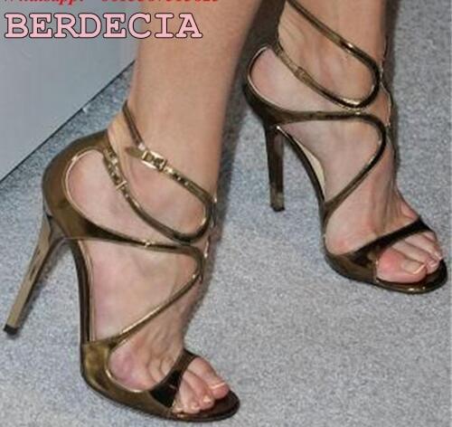 Winsden High Heels Stilettos Shoes Cross Strappy Open Toe Daily Party Wedding for Women