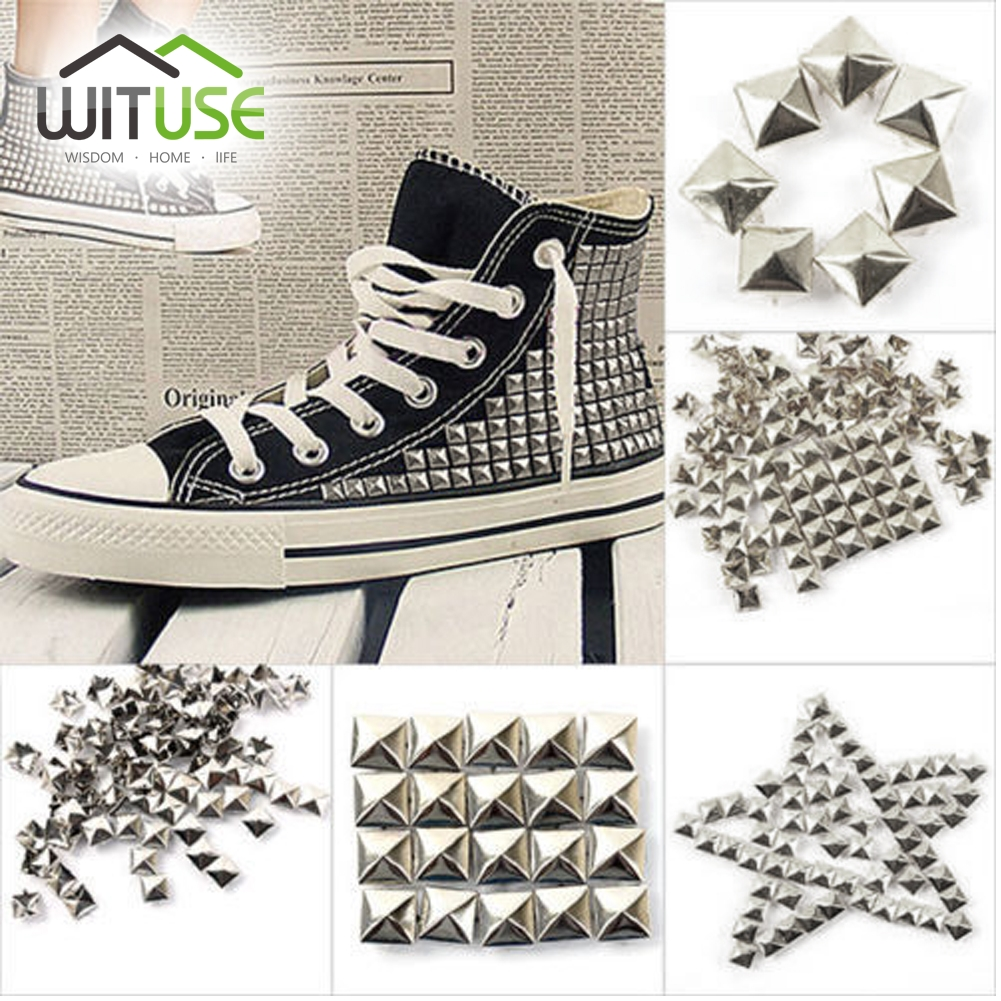 9.5mm Silver Cool Craft Garment Rivets Cone Studs Punk Style Spikes Screwback
