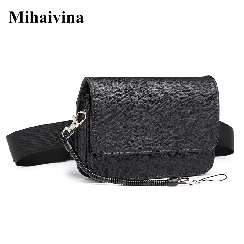 Mihaivina Unisex Waist Bag Women Waist Fanny Packs Belt Bag Luxury Brand Leather Waist Pack Hip Belt Bum Pouch Men Bag Wholesale