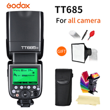 Godox TT685 TT685C/N/S/F/O 2.4G TTL High-speed sync 1/8000s GN60 Flash Speedlite for Canon Nikon Sony Fuji Olympus DSLR Camera triopo tr 988 professional speedlite ttl camera flash with high speed sync for canon and nikon digital slr camera