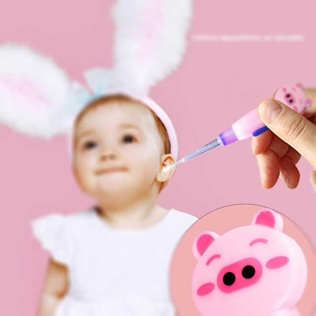 Baby children ear cleaner syringe LED Flashlight Earpick Earwax Remover with Scoop Tweezers babies babys child Care products