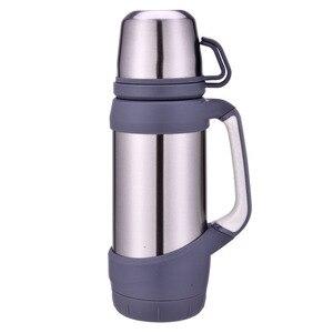 Image 3 - Keelorn garrafas térmicas de vácuo aço inoxidável 1.2l 1l tamanho grande viagem ao ar livre copo garrafa térmica copo térmica café