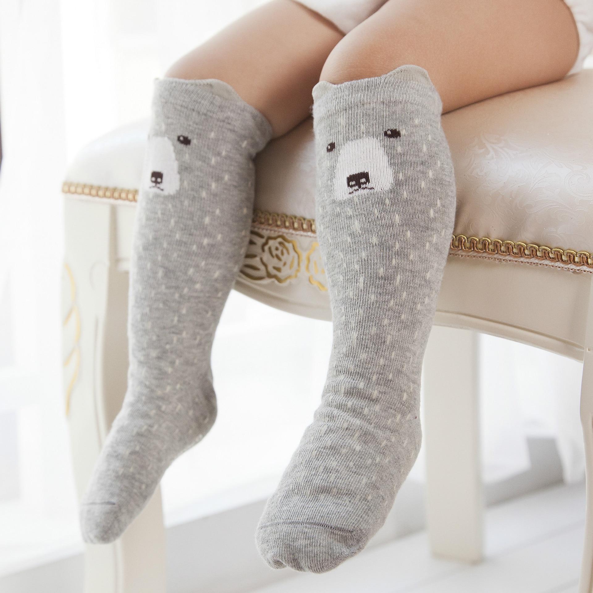 Cute Cartoon Kids Sock Print Animal Cotton Baby Kid Long Sock Half