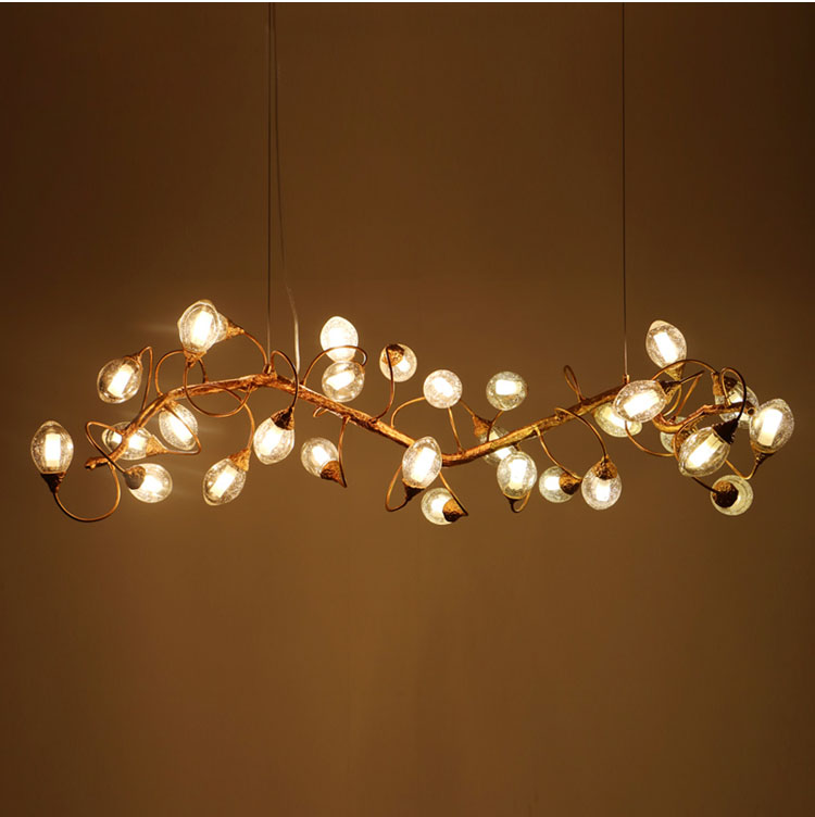 Phube Lighting Copper Branches Glass Fruit Chandelier Light Bar Salon Chandelier Light Lighting Free Shipping цены