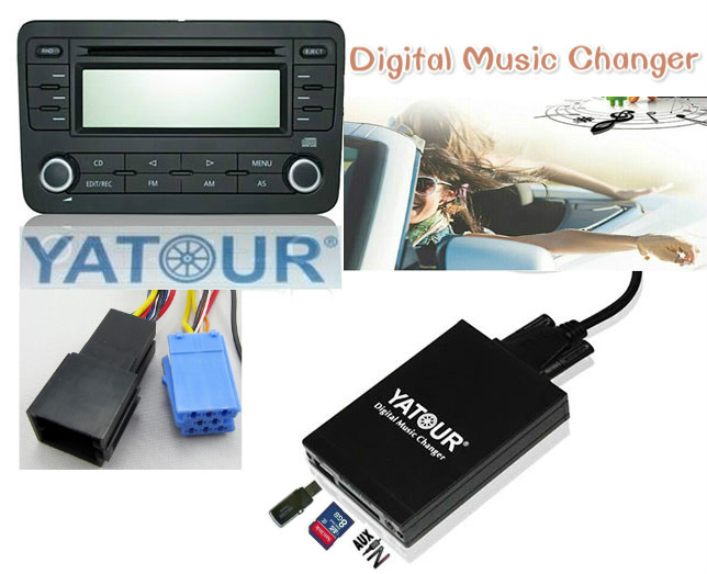 Yatour for Audi A2 A3 A4 A6 A8 S4 S6 S8 AllRoad TT Car MP3 Player USB SD AUX Digital Music Changer Bluetooth interface