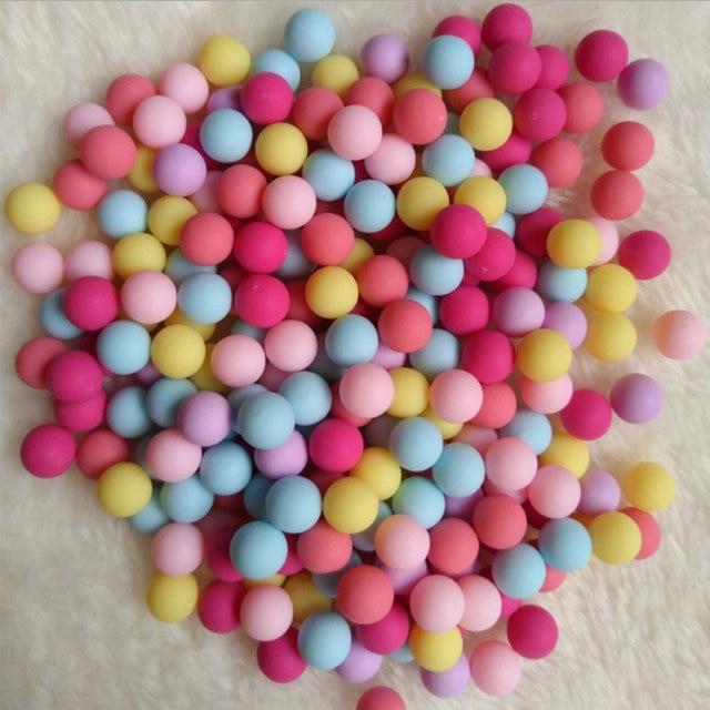 100pcs Lovely Candy Color Beads for Resin Craft Stuff 6mm Mini Matt ...