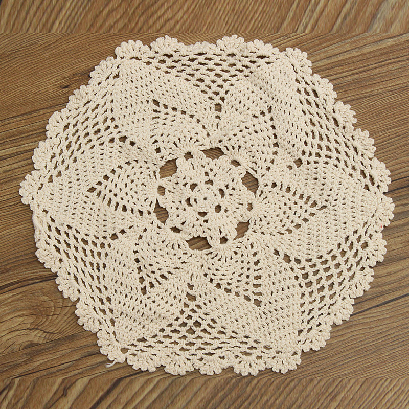 Mayitr 30cm Round Lace Table Mat Hollow Table Cloth Doily Placemat Craft Wedding Birthday Party Table Decorative Hot Selling